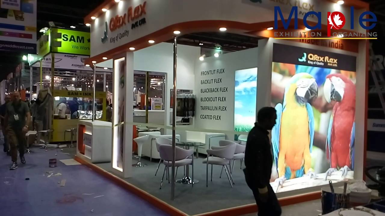 Flexible Exhibition Stands : Exhibition stand designing and fabrication of qrex flex