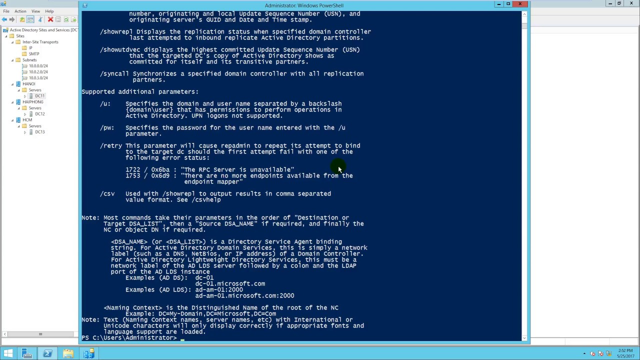 Configure Active Directory Sites and Services in Windows Server 2012 R2