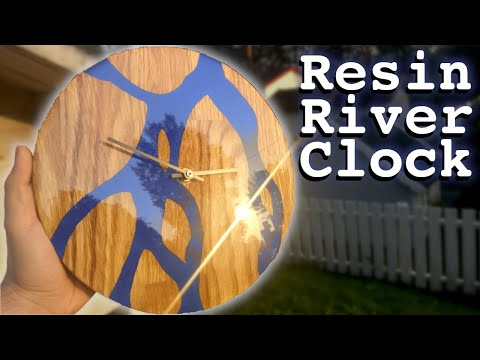 Resin River Clock   DIY   I Make A Blue River Clock From Resin And Wood