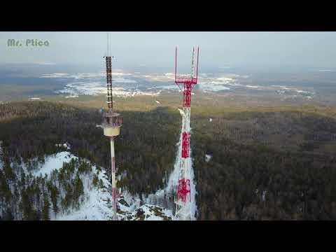 п. Баранчинский (гора Синяя) с высоты птичьего полёта