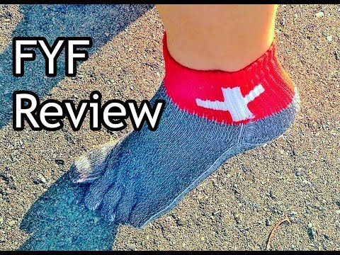 """FYF """"Free Your Feet"""" Minimalist Running Sock Review for Forefoot Running"""