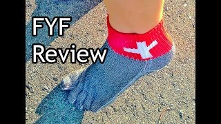 "FYF ""Free Your Feet"" Minimalist Running Sock Review for Forefoot Running"
