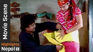 Budi Le Bhudi Boke Pachhi - Nepali Movie KANCHHI MATYANG TYANG Scene
