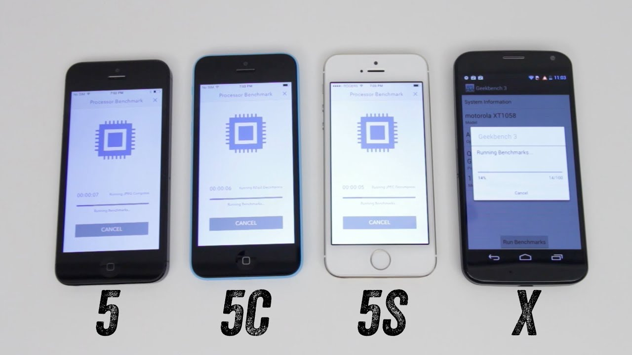 iphone 5s vs iphone 5 iphone 5s vs iphone 5c vs iphone 5 vs moto x benchmark 17518