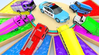 Learn Colors With BinBin Water Pipe and Car Parking for Kids