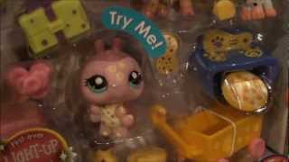 FIRST EVER Littlest Pet Shop Light Up Ladybug - LPS Spots and Dots Treat Shop