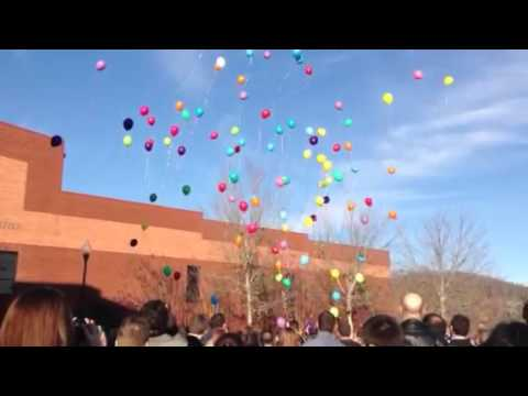 Releasing the Balloons at funeral for Matt Strickland RIP ❤