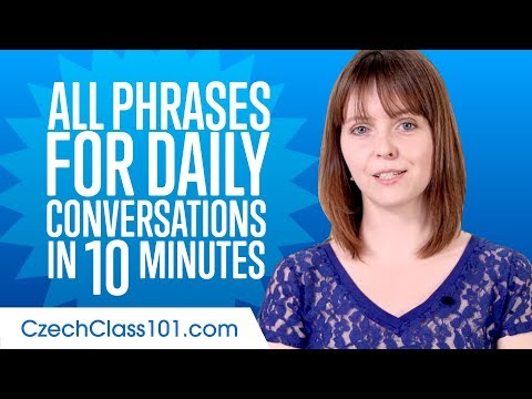 All Phrases You Need for Daily Conversations in Czech