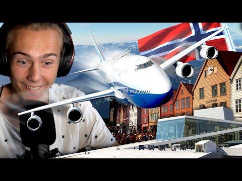 [A] ✈️ VI FLYR NORGE!!!🇳🇴 Oslo & Bergen!!   Microsoft Flight Simulator 2020   Del 1