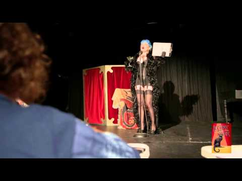Dr Sketchy's at Le Chat Noir Theatre featuring Queen April