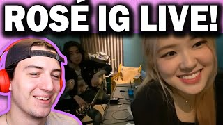 BLACKPINK Rosé Instagram Live REACTION! (May 16th 2020)