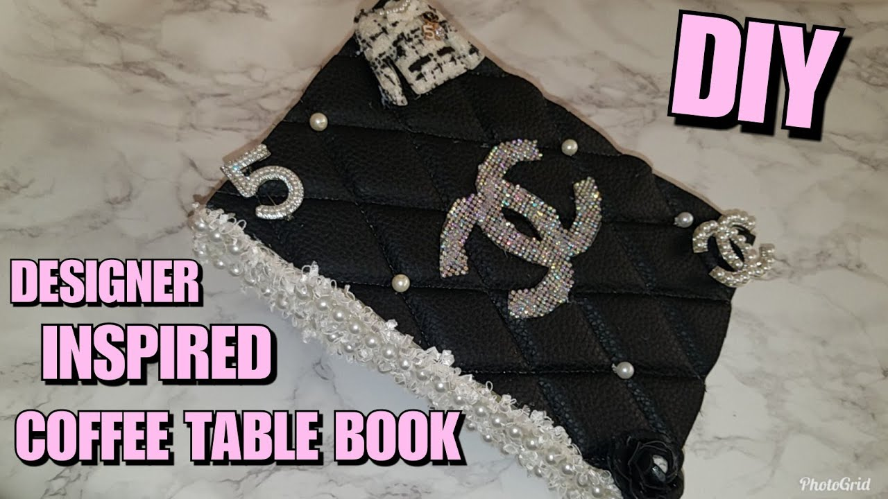 High Quality CHANEL INSPIRED BOOK MADE WITH DOLLAR TREE BOOKS | DESIGNER COFFEE TABLE  BOOK DIY