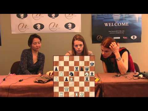 Press Conference Round 5: Tuvshintugs Batchimeg (MGL) - Tatiana Kosintseva (RUS)