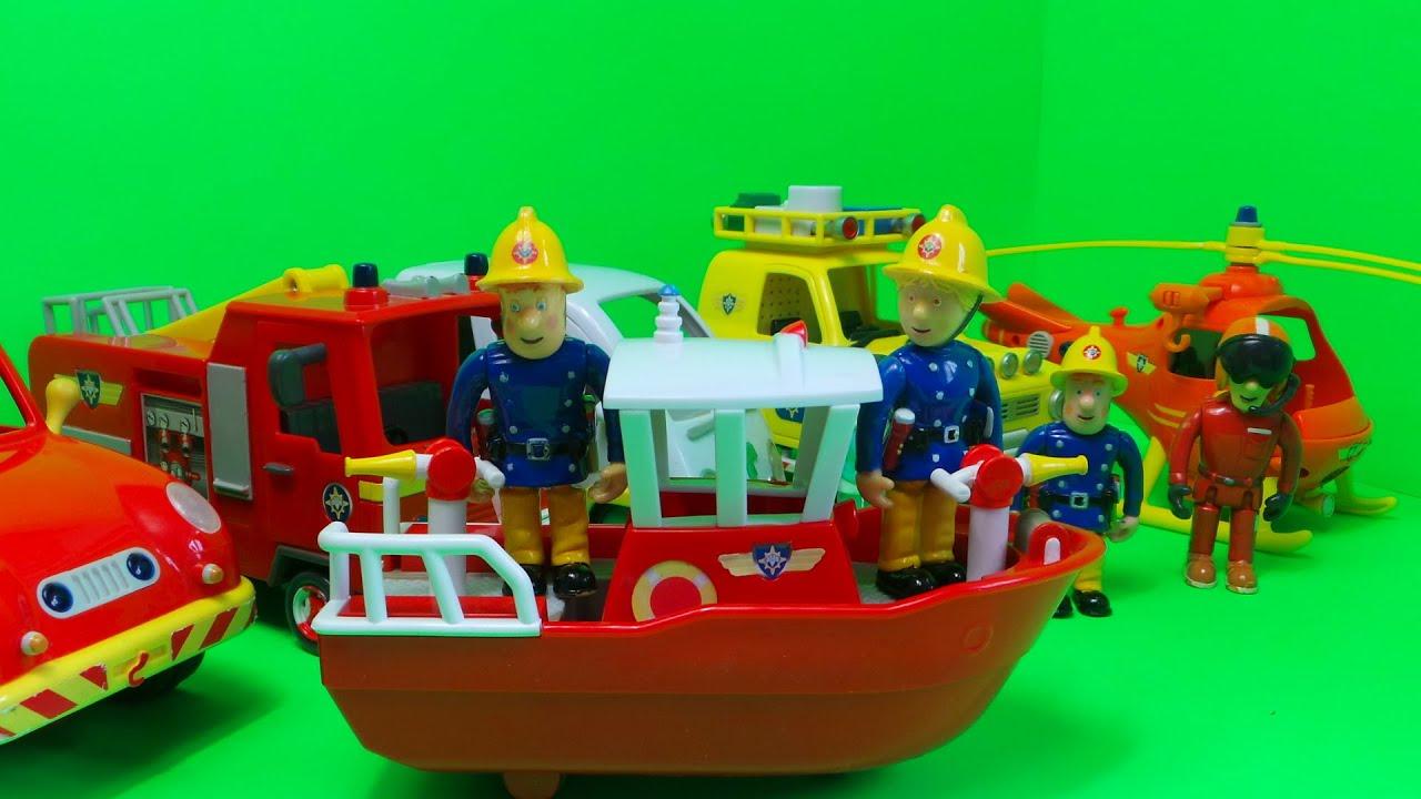 top 6 fireman sam  feuerwehrmann sam vehicles inc new
