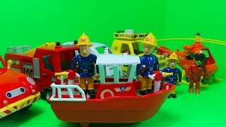 TOP 6 Fireman Sam / Feuerwehrmann Sam VEHICLES Inc., NEW TITAN BOAT UNBOXING