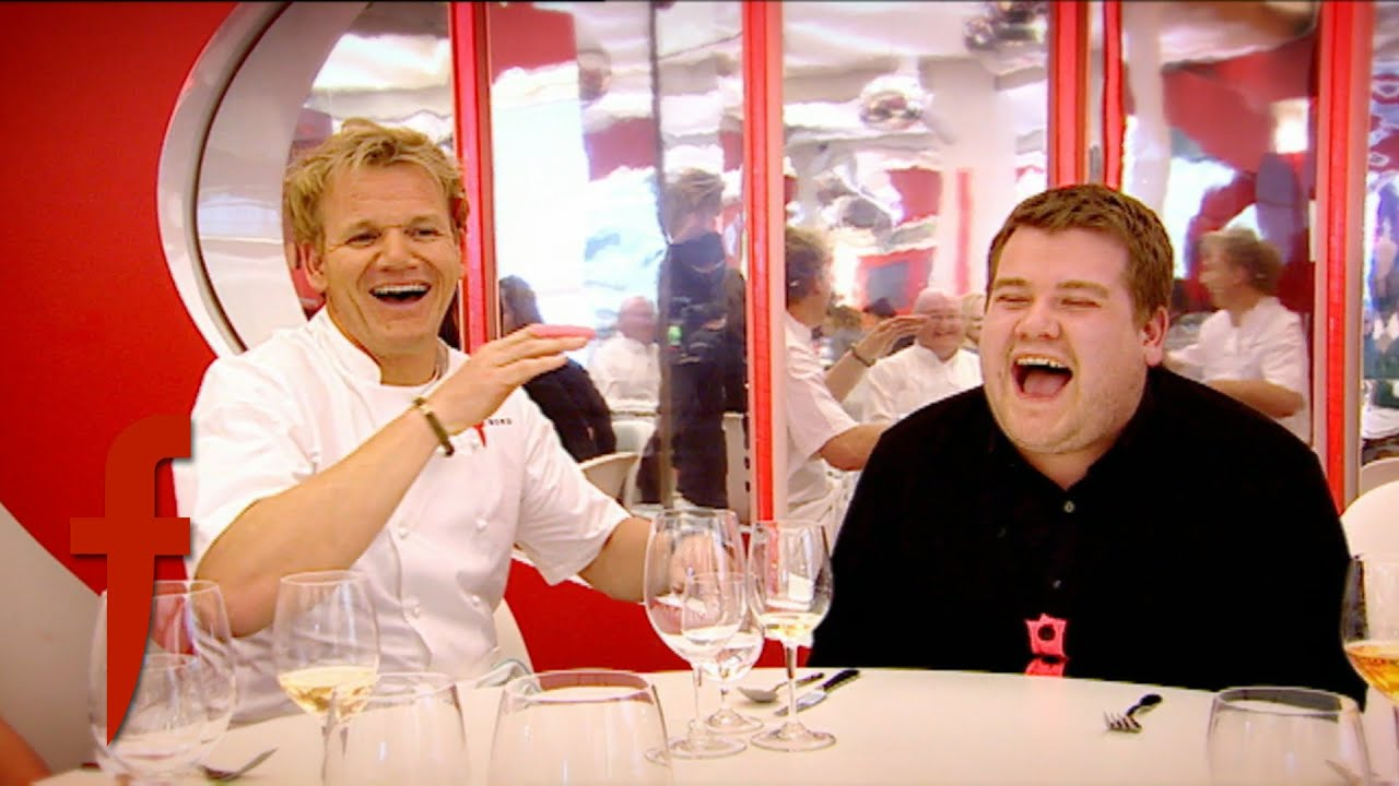 James Corden Dines At The F Word Restaurant