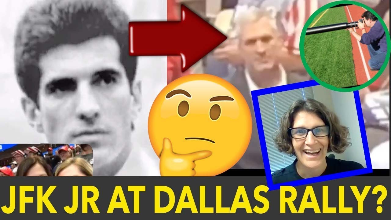 JFK JR Spotting at Trump Rally in Dallas???  Review of Cincy Qamom and Fernando Facial Comparison