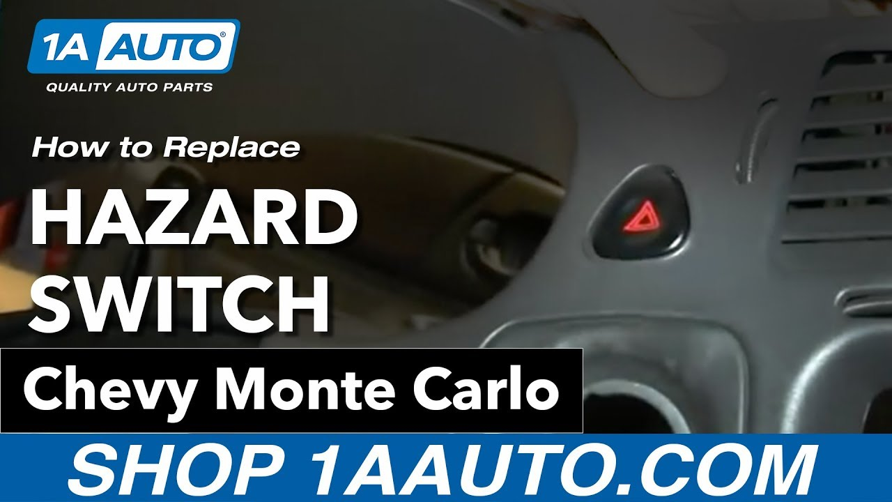 hight resolution of how to replace hazard switch 00 05 chevy monte carlo