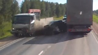 Truck Crash Compilation august 2015,  Russian Road Rage 2015