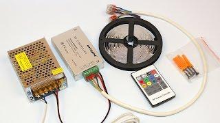 видео Как сделать подсветку потолка из светодиодных лент?