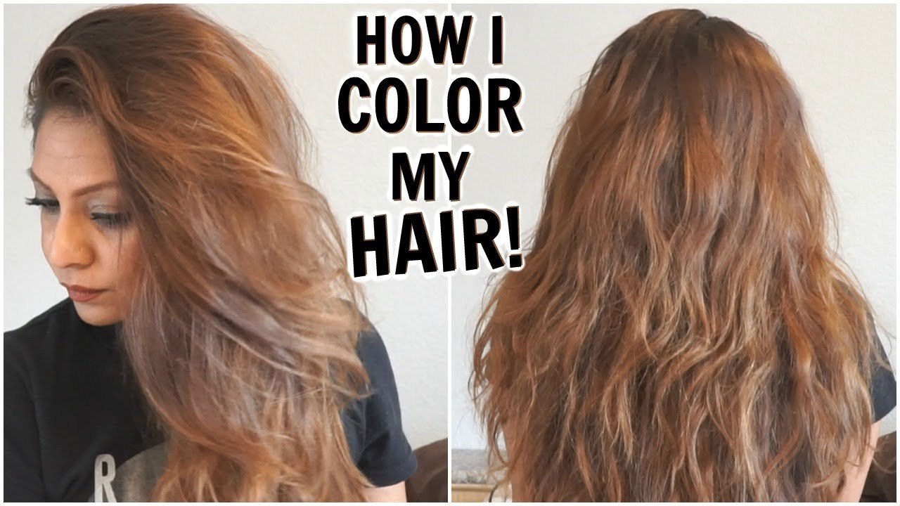 How I Dye My Hair Light Golden Brown at Home│How I Color My Hair ...