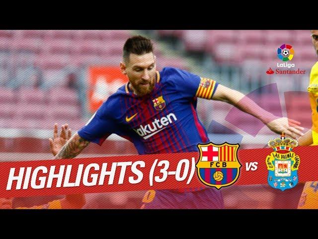 Resumen de FC Barcelona vs UD Las Palmas (3-0)