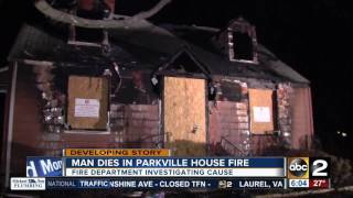 Man dies, dog missing after Parkville house fire