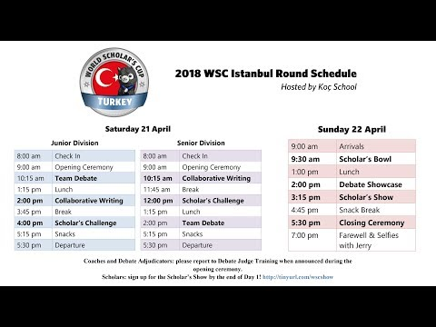 The World Scholar's Cup Istanbul Round