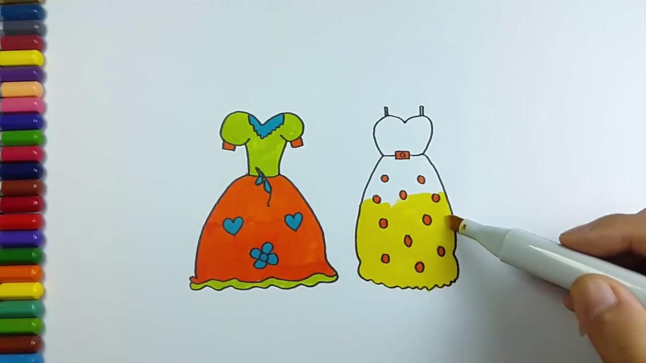 Cara Menggambar Mewarnai Baju Pesta Ulang Tahun Beautiful