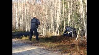 Polisen övar på Flygstaden i Söderhamn! Grovt väpnat rån, Gävleborg, Gästrikland, Hälsingland