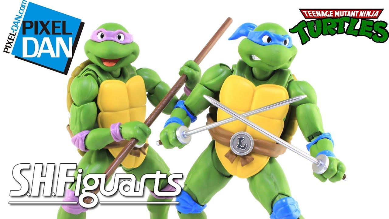 SH Figuarts Teenage Mutant Ninja Turtles Leonardo & Donatello Figures Video Review
