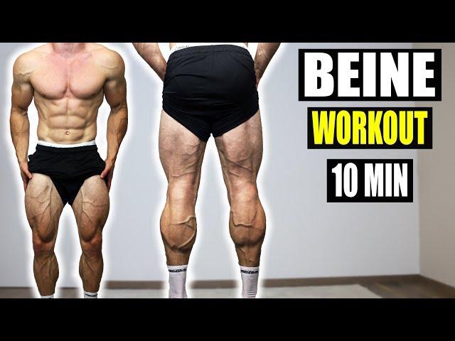 10 Minuten Beine + Waden Workout für Zuhause | Sascha Huber - Beintraining Extrem