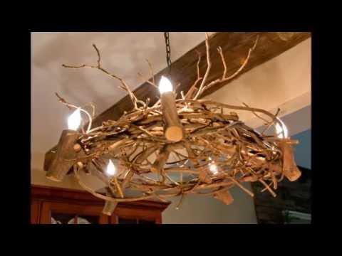 Деревянные люстры для дачи своими руками
