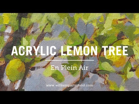 How to Paint a Plein Air Sketch of a Lemon Tree with Acrylics