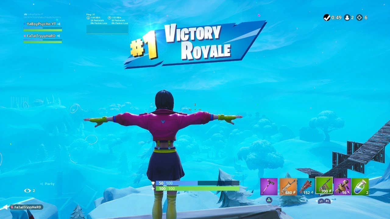 "FORTNITE First Win with ""ROX"" SKIN (FEMALE ""ROX"" OUTFIT ..."
