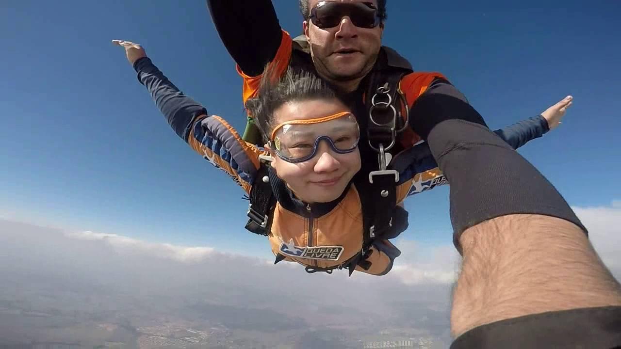Salto de Paraqueda do Wang Ping na Queda Livre Paraquedismo 31 07 2016
