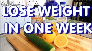 LOSE WEIGHT IN ONE WEEK WITH APPLE CIDER VINEGAR !!