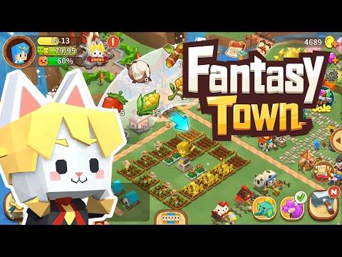 Fantasy Town เกมปลูกผักสร้างเมืองภาพสไตล์ Minecraft ในมือถือใหม่ล่าสุด!
