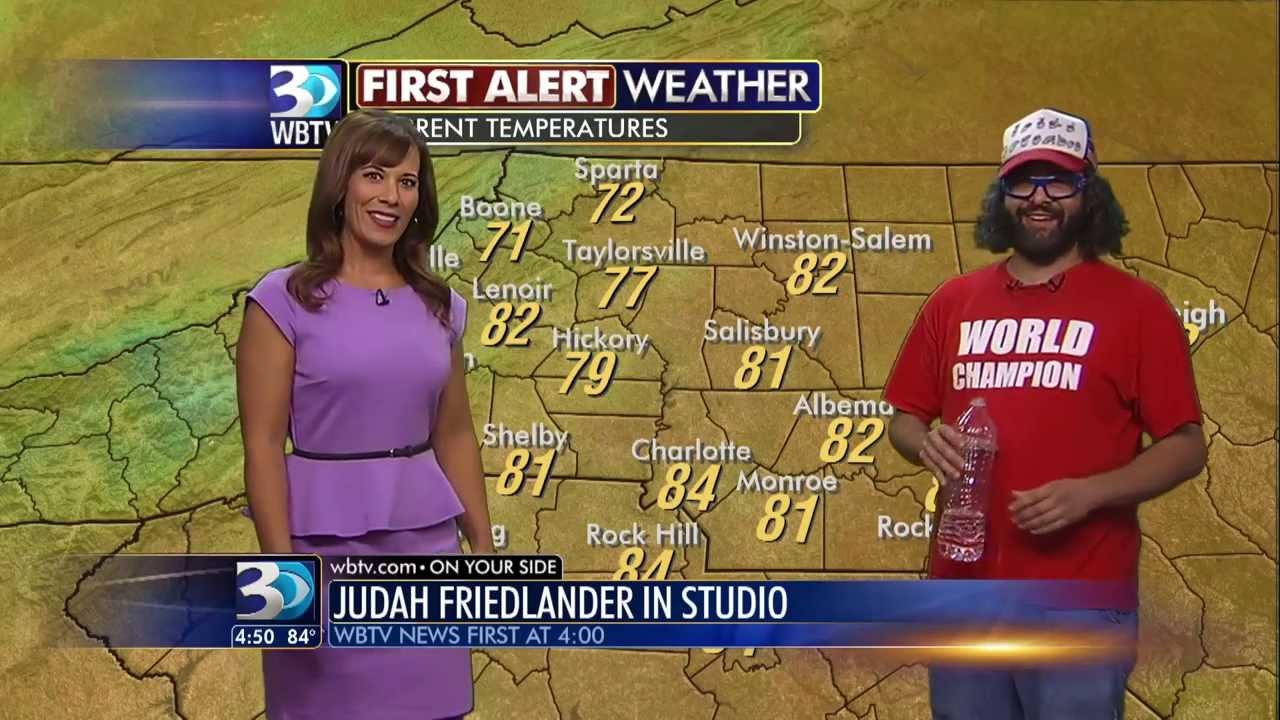 Comedian Judah Friedlander Does The Weather On WBTV YouTube - Wbtv weather forecast