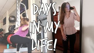days in my life: internship, workout, opening up