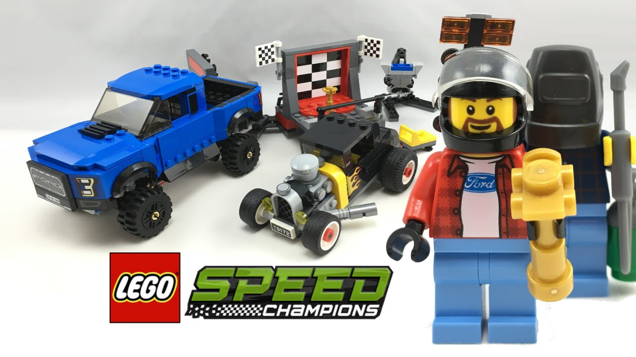 lego speed champions ford f 150 raptor ford model a hot. Black Bedroom Furniture Sets. Home Design Ideas