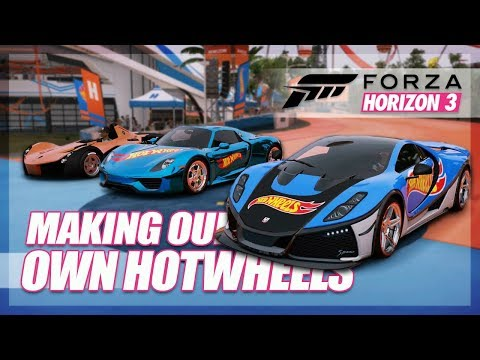 Forza Horizon 3 - Making our own Hot Wheels Car Challenge!