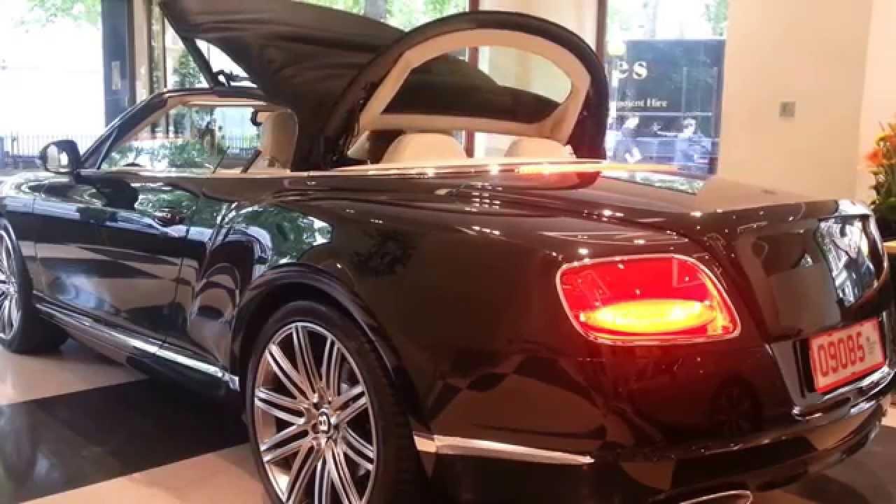 Bentley Continental Gt Convertible Roof Closing Start Up