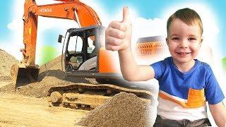 Экскаватор сломался - Тема спешит на помощь  -Видео про Трактор для детей
