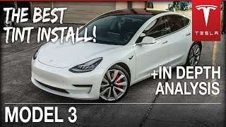 BEST way to TINT a Tesla Model 3 with Ceramic Tint (FULL ANALYSIS) | Houston, TX