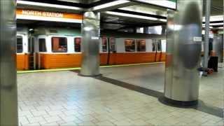 MBTA North Station, Boston, Massachusetts state, USA.