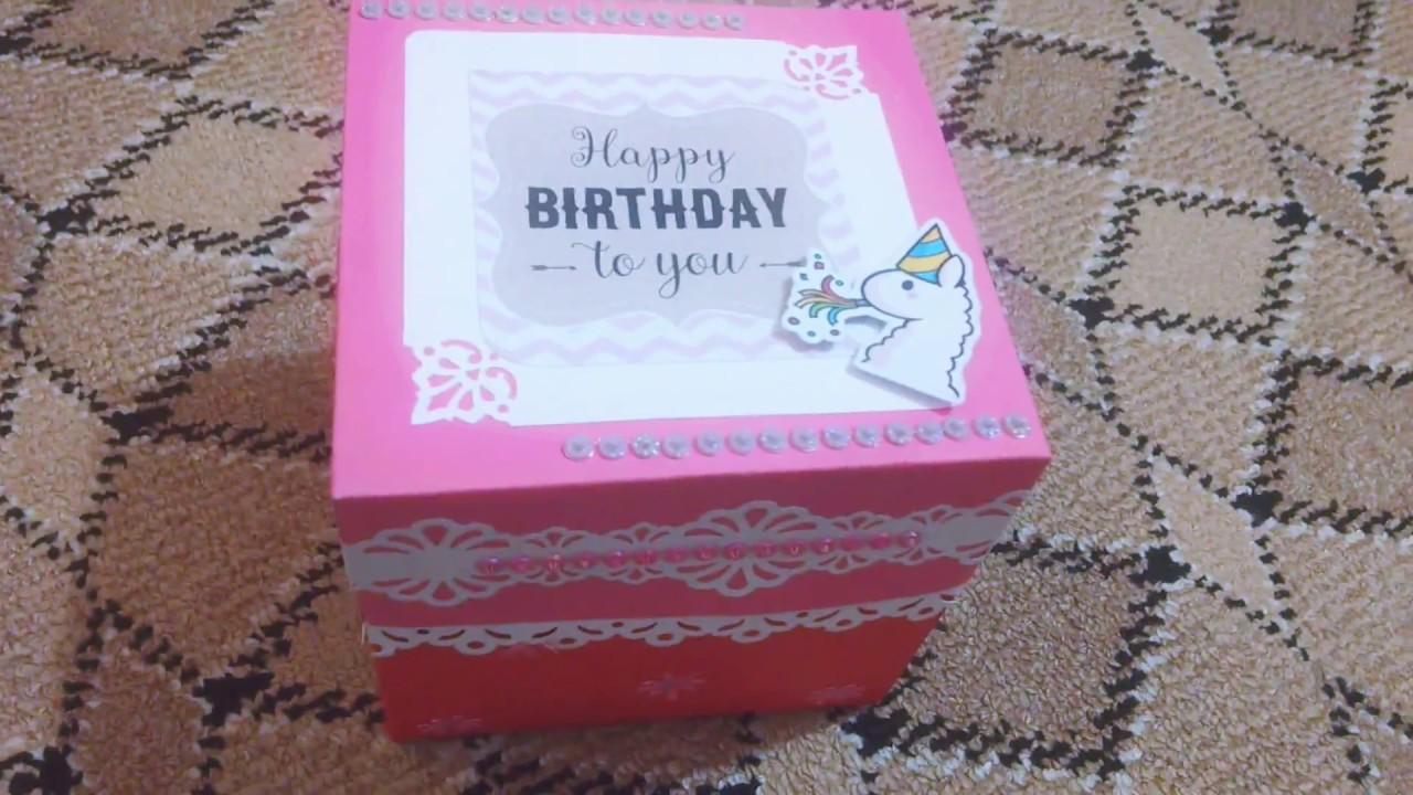 Diy Center Cake Explosion Box Birthday Explosion Box Best Gift For Her Best Friend