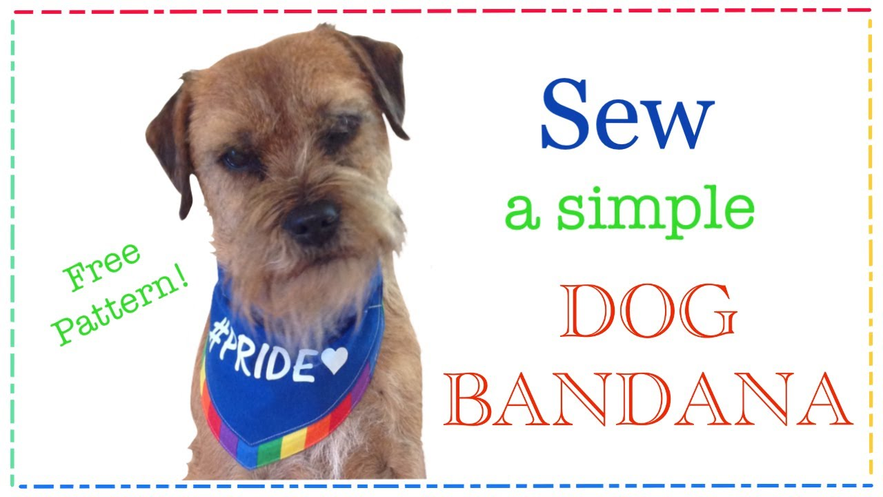 Diy Dog Bandana Slip Through Collar Design Free Pattern With Lisa