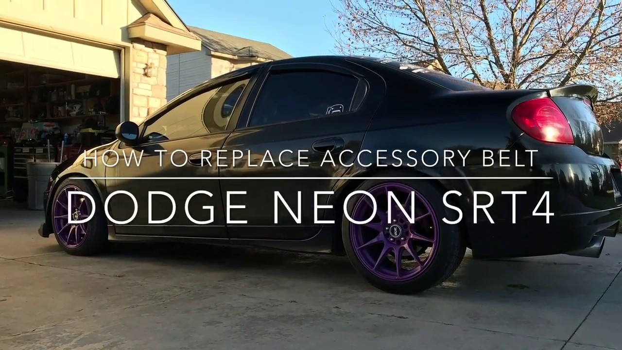 hight resolution of how to install serpentine accessory belt dodge neon srt4
