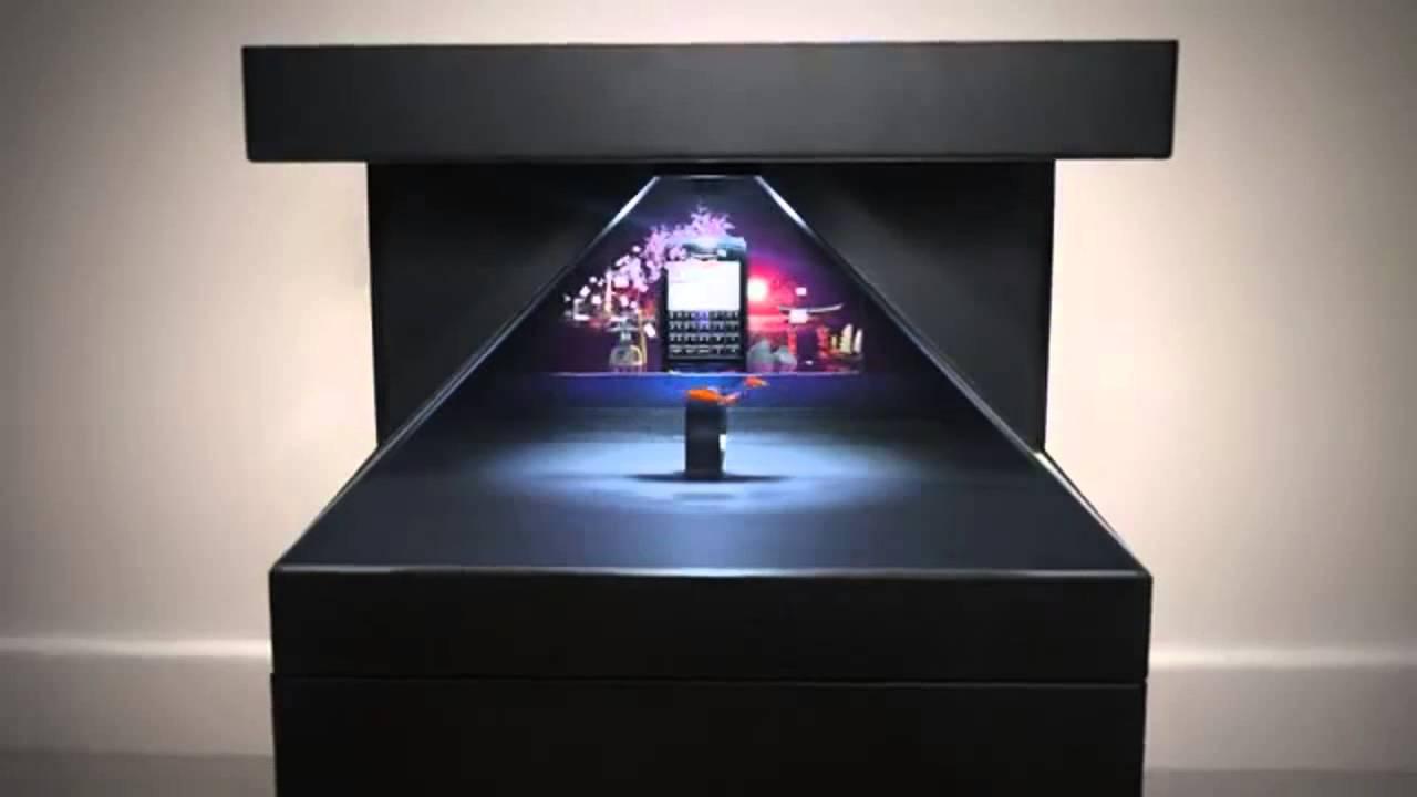 3d hologram box - YouTube